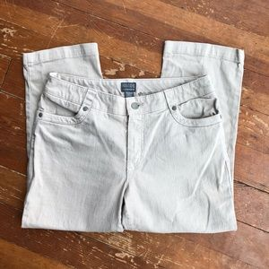 Additions by Chico's Tan Cropped Jeans, size 6